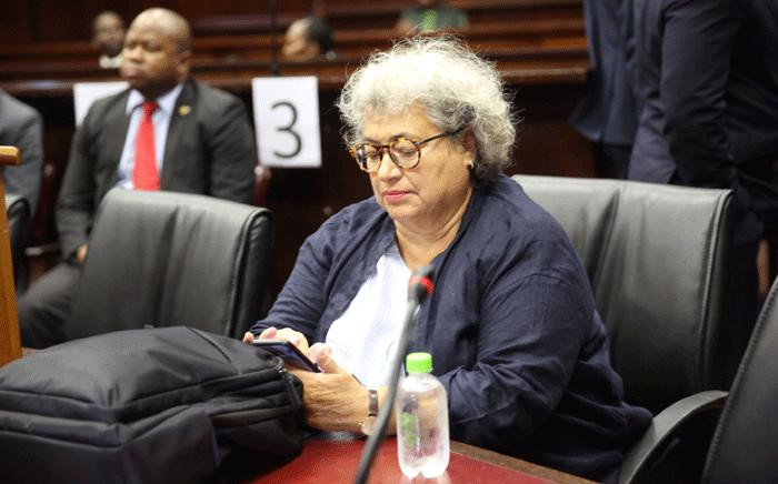 FILE: Jacob Zuma co-accused, Thales representative, Christine Guerrier, awaits court to start on 8 June 2018. Picture: Jackie Clausen/Pool.