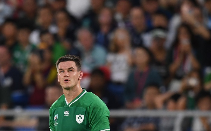 Ireland's fly-half Jonathan Sexton looks up during the Japan 2019 Rugby World Cup Pool A match between Ireland and Scotland at the International Stadium Yokohama in Yokohama on 22 September 2019. Picture: AFP