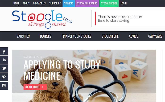Stoogle website. Picture: Screengrab