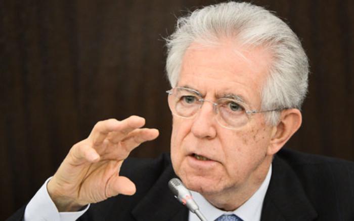 Italian Prime Minister Mario Monti. Picture: AFP.