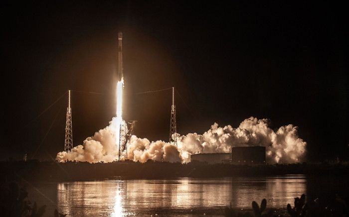A SpaceX Falcon 9 rocket lifts off at the Cape Canaveral Air Force Station in Florida. Picture: @SpaceX/Twitter