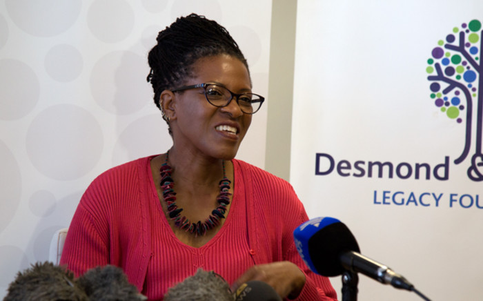 FILE: Reverend Canon Mpho Tutu updates the press of Archbishop Desmond Tutu's current health status. Picture: Anthony Molyneaux/EWN
