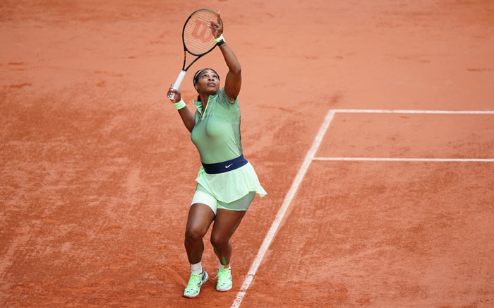 Serena Williams in action at the French Open on 2 June 2021. Picture: @rolandgarros/Twitter