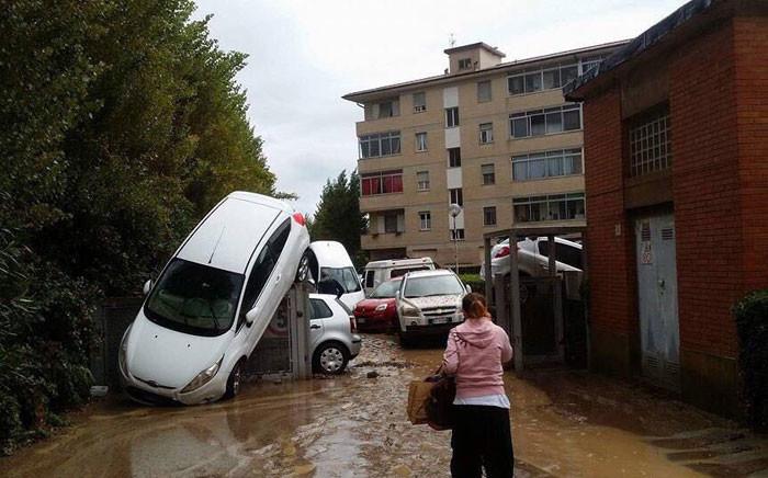 The Tuscan city of Livorno has been hit by heavy rain. Picture: Livorno Mayor Filippo Nogarin/@nogarin.