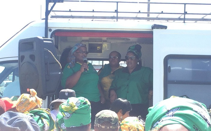 The ANCWL's deputy president Sisi Ntombela.  Picture: Monique Mortlock/EWN.