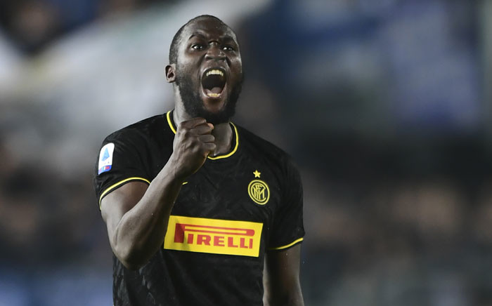 FILE: Inter Milan's Belgian forward Romelu Lukaku celebrates scoring his team's second goal during the Italian Serie A football match Brescia vs Inter Milan on 29 October 2019 at the Mario-Rigamonti stadium in Brescia. Picture: AFP