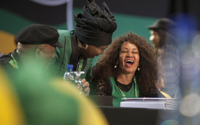 Lindiwe Sisulu shares a laugh with Dr Nkosazana Dlamini Zuma at the start of the ANC's 54th national conference on 16 December 2017. Picture: Ihsaan Haffejee/EWN