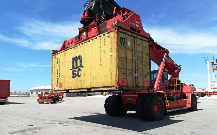A container seized by police at Coega harbour in Port Elizabeth. Picture: SAPS/Facebook.com