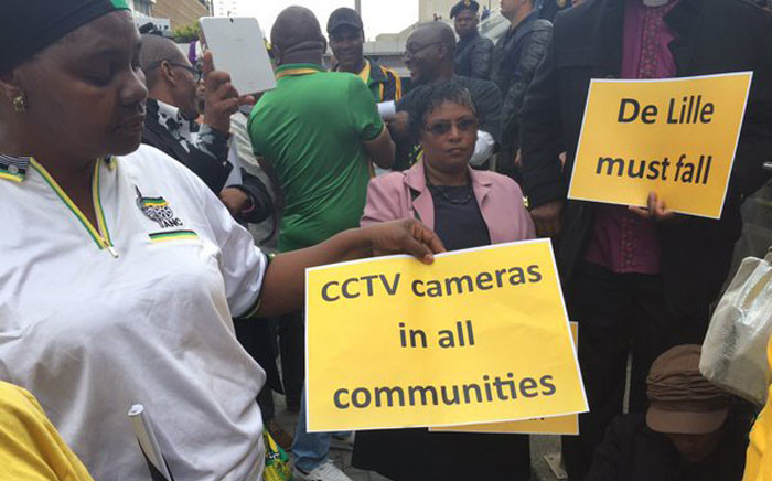 Demonstrators at the ANC march say they want more clinics, more health staff, reopen Jooste hospital and better services. Picture: Natalie Malgas/EWN.