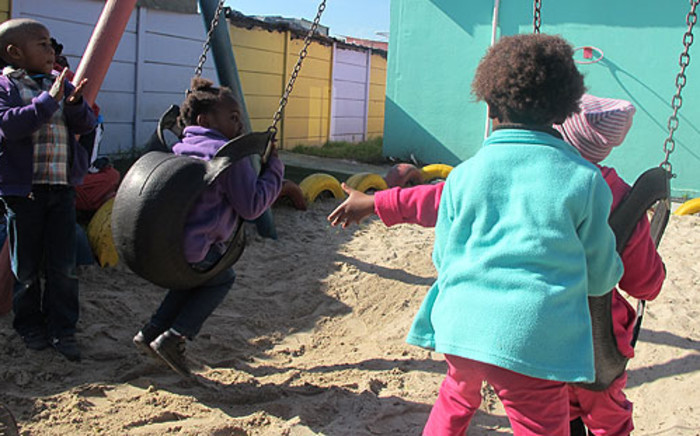 Little children playing outside Philani Health and Nutrition Centre in Khayelitsha on 25 July 2012. Picture: Nathan Adams/EWN