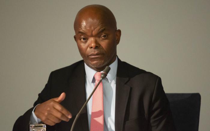 Interim Eskom CEO Phakamani Hadebe at a media briefing on 3 April 2018.  Picture: Christa Eybers/EWN