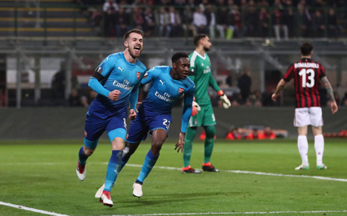 FILE: Arsenal's Aaron Ramsey celebrates his goal during Arsenal's Europa League match against AC Milan on 8 March 2018. Picture: @Arsenal/Twitter