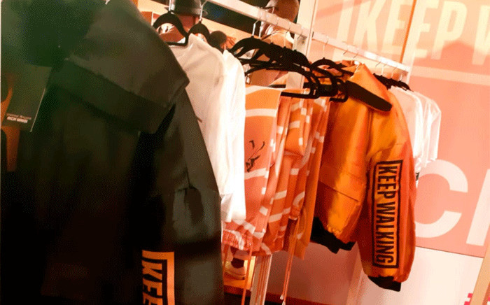 Rich Mnisi and Johnnie Walker celebrated the alcohol brand's 200th anniversary with a limited edition clothing line on 13 May 2021 in Sandton. Picture: Winnie Theletsane/Eyewitness News.