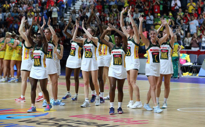 The Proteas at the Netball World Cup in Liverpool. Picture: @Netball_SA/Twitter.