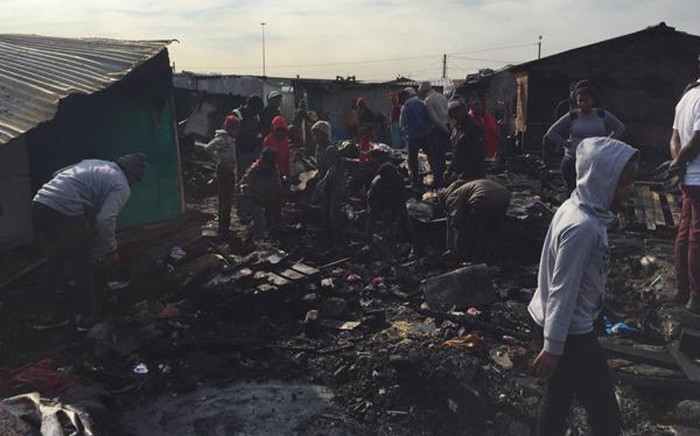 A total of 45 people have lost their homes in a blaze that broke out in Langa late on 10 August 2015. Picture: Natalie Malgas/EWN.