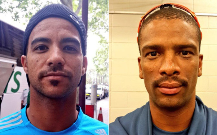 Vernon Philander and JP Duminy show their Mo's in honour of Movember. Picture: Twitter via @VDP_24 and @jpduminy21.