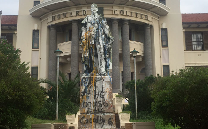 A vandalised building at the University of KwaZulu-Natal. Picture: Kgothatso Mogale/EWN.