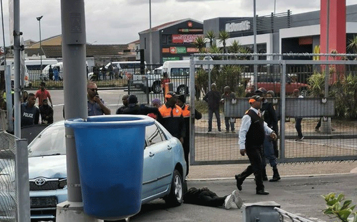 Two robbers have been shot and wounded by police at Mitchells Plains Promenade Mall. Picture: Intelligence Bureau SA/Facebook.