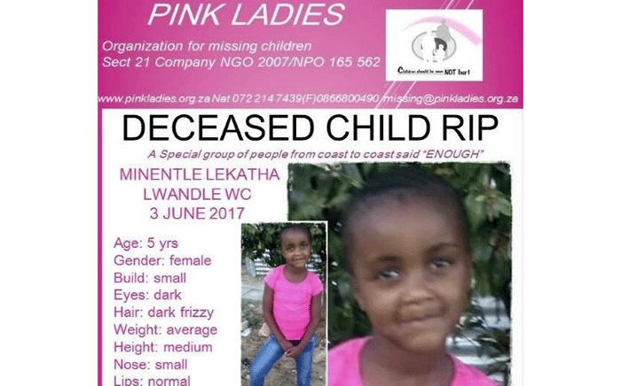 FILE: Minentle Lekatha's body was found in Nomzamo on Saturday 3 June 2017. Picture: Facebook.com