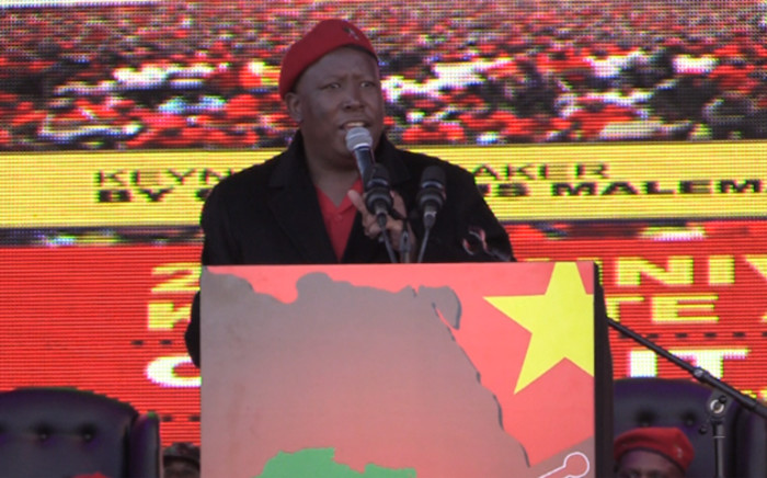 EFF president Julius Malema talking at the 2nd anniversary of the party. Picture: Kgothatso Mogale/EWN