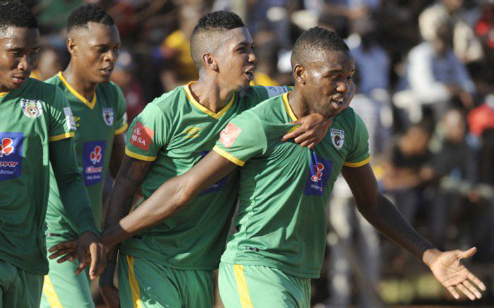 Baroka FC players celebrate as they will remain in the PSL. Picture: Twitter.