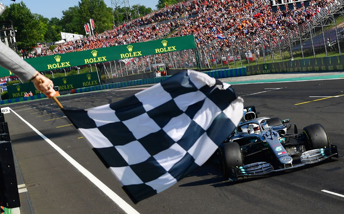 FILE: Mercedes' British driver Lewis Hamilton wins the Formula One Hungarian Grand Prix at the Hungaroring circuit in Mogyorod near Budapest, Hungary, on 4 August 2019. Picture: AFP