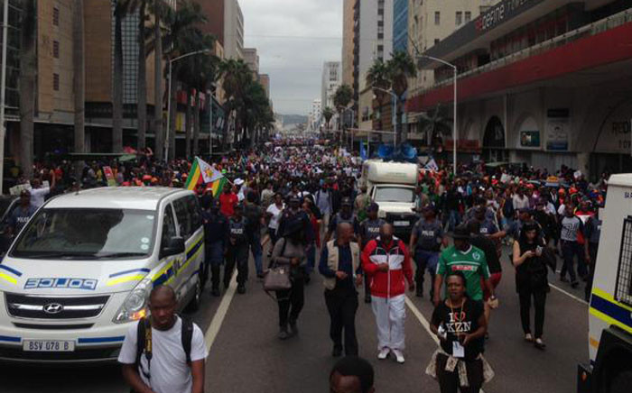 Around 7,000 people in Durban's streets joined the peace march saying No to Xenophobia on 16 April 2015. Picture: Govan Whittles/EWN.