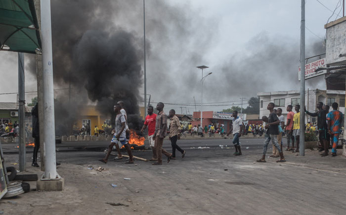 FILE: Protesters gather on the streets of Cadjehoun, the stronghold of former president of Benin Thomas Yayi Boni, on 2 May 2019 in Cotonou. Picture: AFP