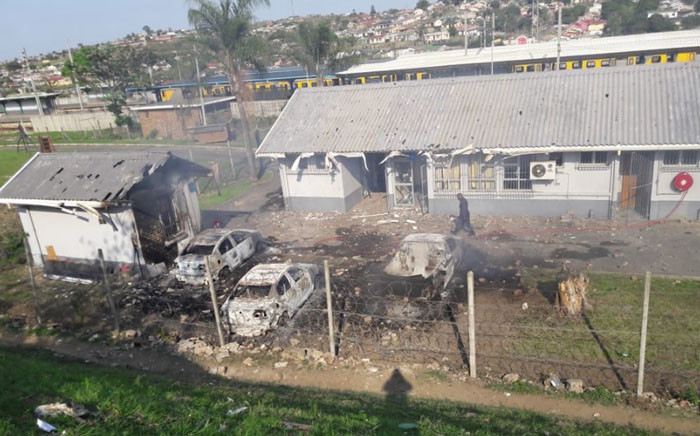 Umlazi SAPS opened a case of public violence following damage to property during protest action by about 1,000 protesters at Umlazi Railway Station. Picture: SAPS.