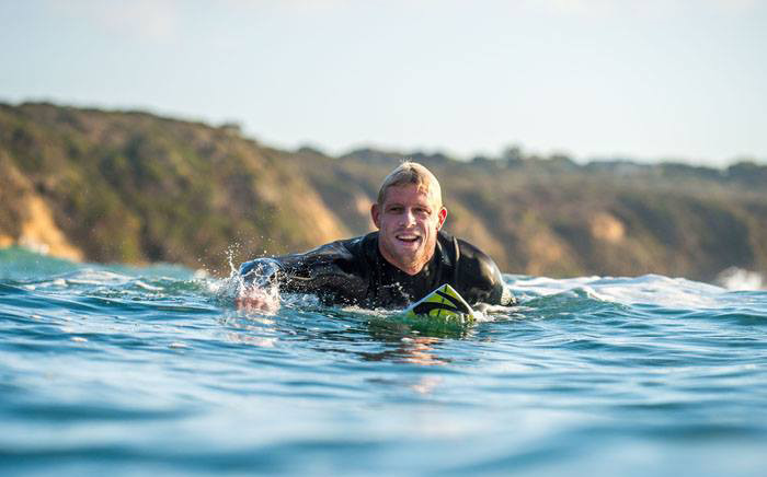 Mick Fanning was thrown off his board by a shark during a surfing competition in Jeffreys Bay on 19 July. Picture: Facebook