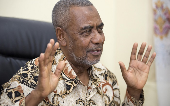 Opposition presidential candidate and secretary general of the Civic United Front (CUF) Maalim Seif Sharif Hamad holds a press conference in Stone Town, Zanzibar on November 1, 2015. Picture: AFP