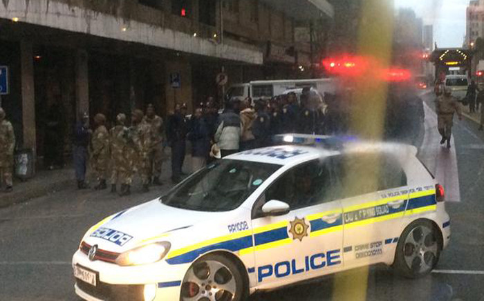 The army and police raided buildings around the Johannesburg CBD on 8 May 2015. Picture: @sirnyasha