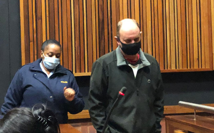 Former VBS Mutual Bank chief financial officer Philip Truter appears in the Palm Ridge Commercial Court on 6 July 2020. Picture: EWN