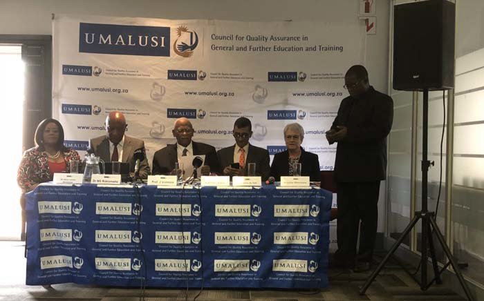 The Umalusi Council briefed the media on 28 December 2018 on the results of the 2018 final matric exams on 28 December 2018. Picture: @SAgovnews/Twitter