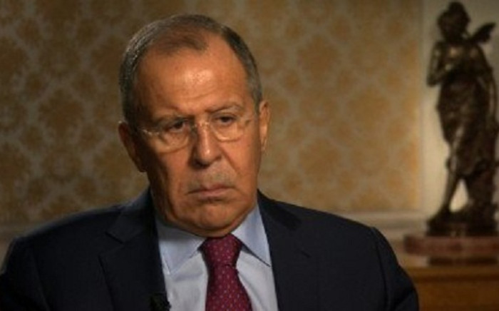 Russian Foreign Minister Sergey Lavrov during his interview with Christiane Amanpour. Picture: CNN Screengrab.