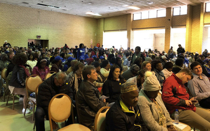 Westonaria residents present to the parliamentary committee their stance on land redistribution. Picture: @DA_GPL/Twitter.