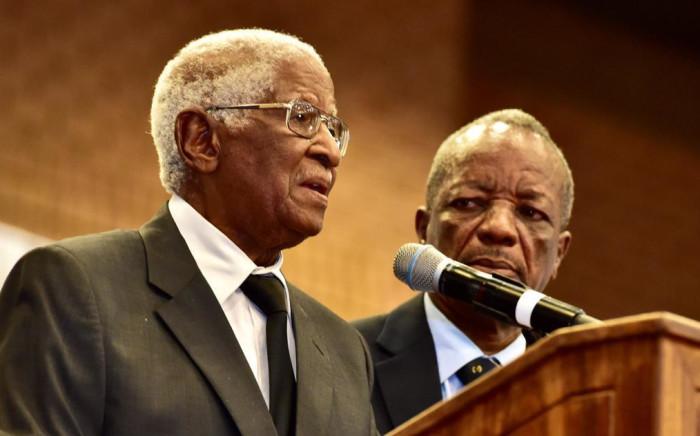 Dr Sam Motsuenyane pays tribute to Richard Maponya on 14 January 2020. Picture: GCIS