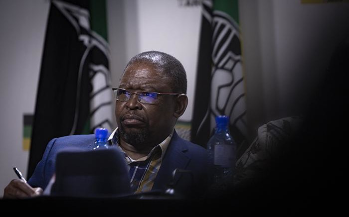 Chairperson of the ANC's subcommittee on economic transformation Enoch Godongwana is seen at the ANC press conference on 1 August 2018 on the outcomes of the ANC NEC Lekgotla that was held on 30 to 31 July 2018 in Tshwane. Picture: Sethembiso Zulu/EWN