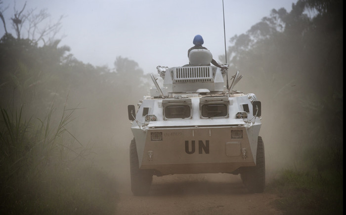 An armoured personnel carrier on patrol near Beni, Democratic Republic of Congo. Picture: United Nations Photo