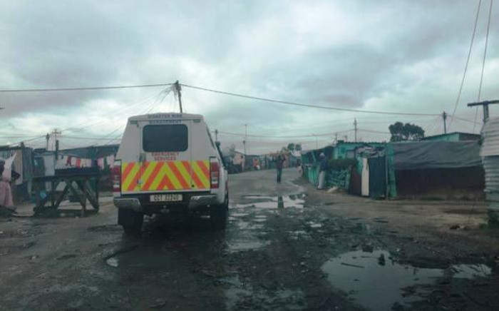 Cape Town Disaster Risk Management is assessing water damaged homes in Khayelitsha. Picture: Aletta Harrison/EWN.