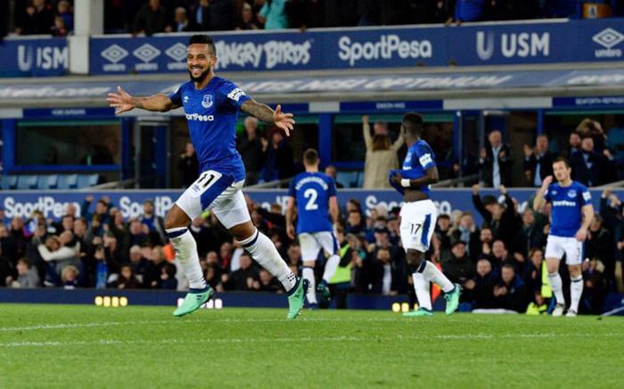 Everton's Theo Walcott celebrates a goal. Picture: @Everton/Twitter