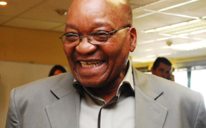 ANC President Jacob Zuma in high spirits. Picture: Taurai Maduna/Eyewitness News