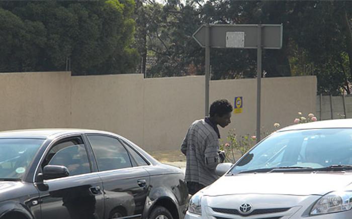 Bayers Maluleke, a Johannesurg beggar. Picture: Matshidiso Madia/EWN