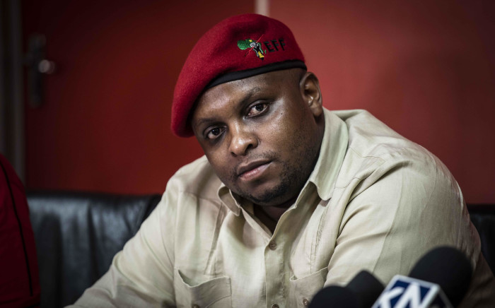 EFF deputy president Floyd Shivambu at a media briefing in Johannesburg on 16 October 2018. Picture: Abigail Javier/EWN
