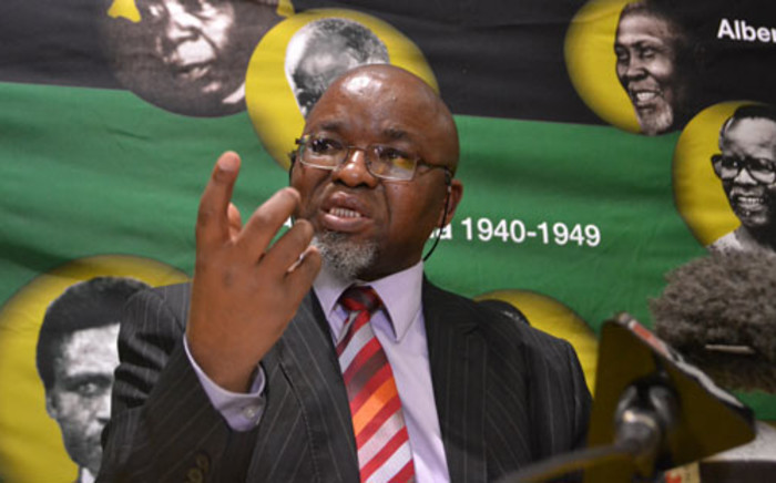 ANC Secretary General Gwede Mantashe at a post-NEC briefing on 21 May, 2012. Picture: Tshepo Lesole/EWN