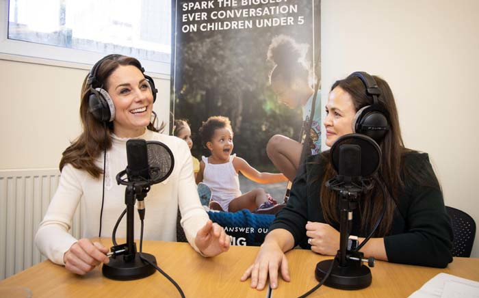 """Kate, Duchess of Cambridge, taking part in the """"Happy Mum, Happy Baby"""" podcast. Picture: Twitter/@KensingtonRoyal"""