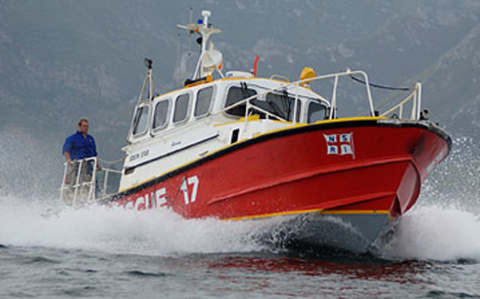 The National Sea Rescue Institute on Saturday 18 January 2014 rescued a group of men off a stricken boat near Struisbaai in the Western Cape. Picture: Supplied.