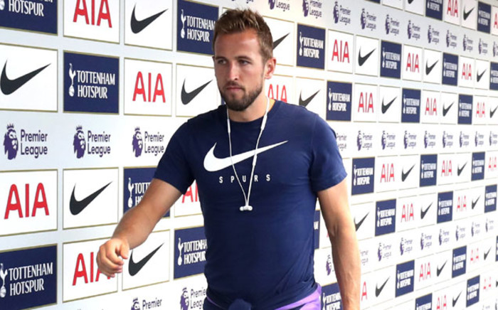 Tottenham Hotspur striker Harry Kane. Picture: @SpursOfficial/Twitter