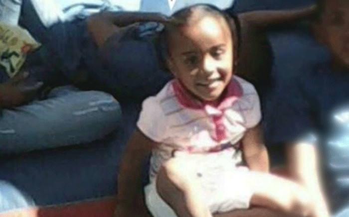 A screengrab shows a picture of the girl killed during suspected gang violence in Uitsig, Cape Town. Picture: facebook.com