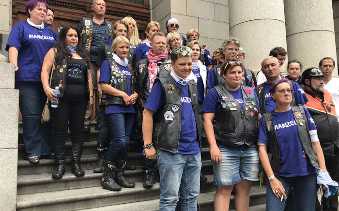 Friends of Zelda van Niekerk at the Western Cape High Court on 5 February 2020 for the sentencing of her killers. Picture: Lauren Isaacs/EWN